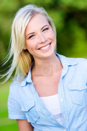 Portrait of pretty blond woman