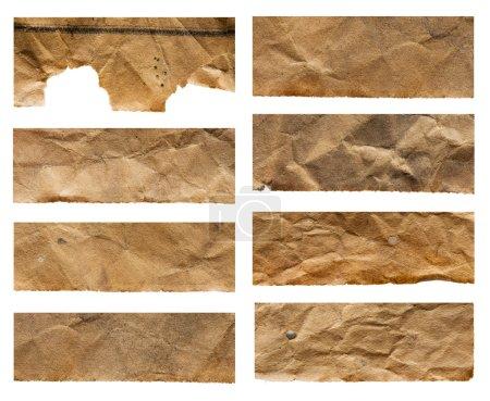 Photo pour Ensemble de vieux morceaux de papier. textur abstrait - image libre de droit