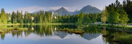 Photo for Panorama of mountain lake. Slovakia, the resort Strbske Pleso - Royalty Free Image