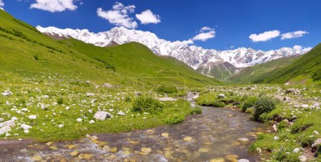 Panorama of mountain Caucasus