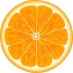 Orange on a white background...
