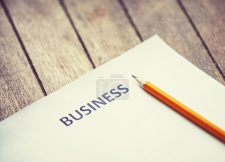 Pencil and paper for business begin.