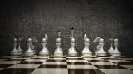 3d Chess concept background. High resolution...