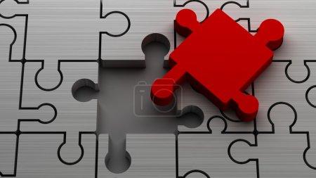 3d puzzle High resolution. 3D image