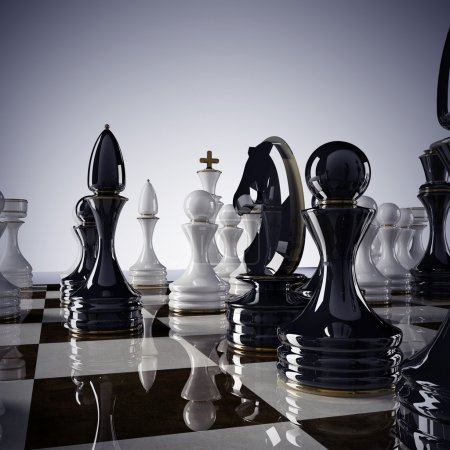 Chess background - checkmate