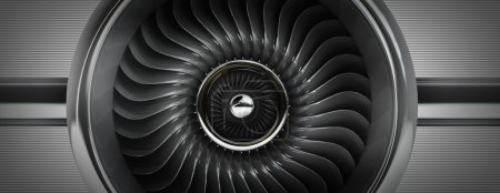 Jet engine front view
