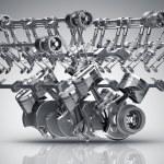 V8 Car engine. Concept of modern car engine. High ...