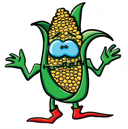 Funny cartoon corn