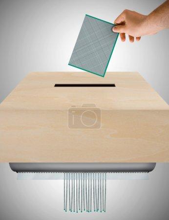 Bulletin de vote sans valeur