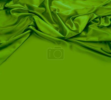 Photo pour Fond en tissu de soie vert - image libre de droit