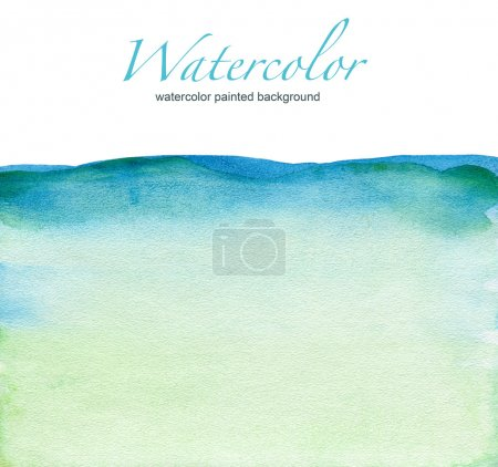 Photo for Abstract watercolor painted background - Royalty Free Image