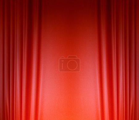 Foto de Cortina de seda rojo de fondo - Imagen libre de derechos
