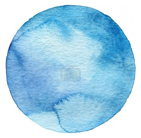 Photo for Abstract watercolor circle painted background - Royalty Free Image