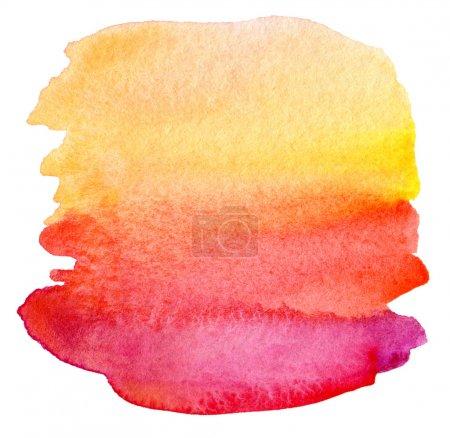 Photo pour Aquarelle abstraite peint fond - image libre de droit