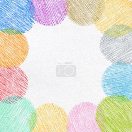 Photo pour Dessin à la main cadre crayon couleur - image libre de droit