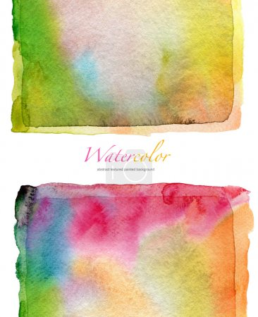 Photo for Abstract watercolor and acrylic painted background. Paper texture. - Royalty Free Image
