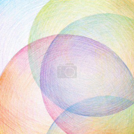 Photo for Abstract color pencil scribbles background. Paper texture. - Royalty Free Image