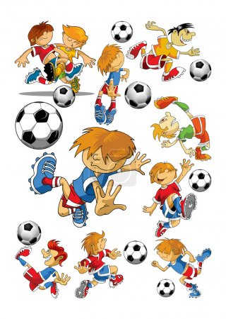 Soccer players  cartoons