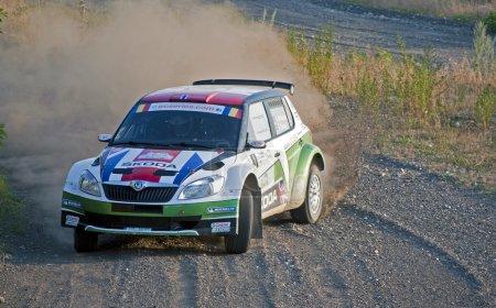 Rally car on gravel