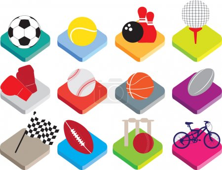 isometric flat sports ball icon