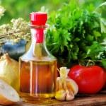 Olive oil and Mediterranean cuisine Ingredients...