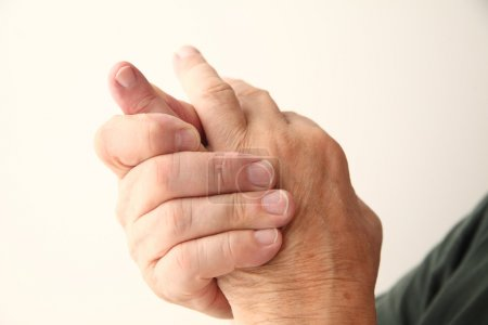 Man has pain in pinky finger