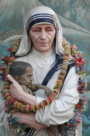 Mother Teresa statue in Prem Dan house, Kolkata...