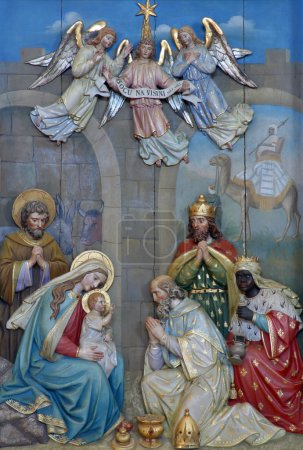 Photo for Nativity Scene, Adoration of the Magi - Royalty Free Image