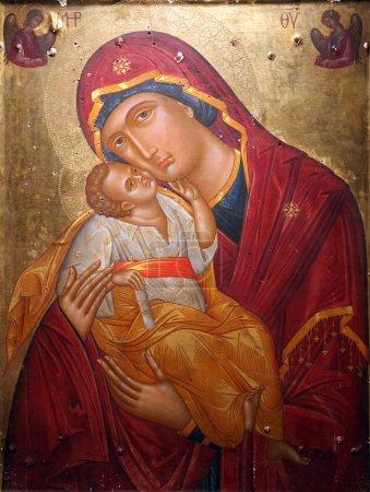 Photo pour Vierge à l'Enfant, Notre-Dame de l'Ile - image libre de droit
