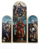 Saint Lawrence with the Virgin, Christ and angels, St. John the Baptist and the St. Nicholas