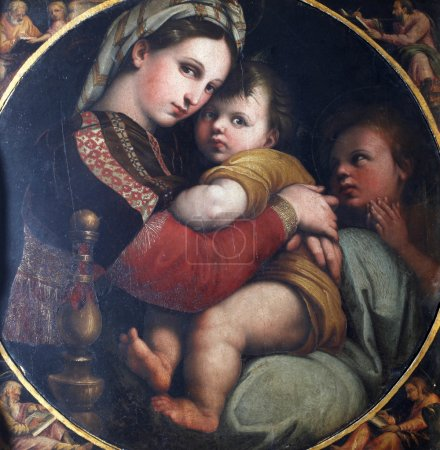 Madonna with Child and Saint John the Evangelist