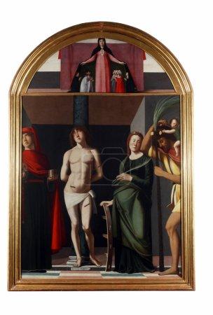 Madonna patroness Saint Sebastian and