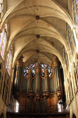 orgue à tuyaux, saint Séverin église, paris