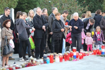 Zagreb cemetery Mirogoj on All Saints Day