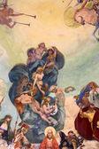 """Постер, картина, фотообои """"фресками купол Музыкальный киоск, Рапалло, Италия"""""""