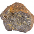 Sample of galena ore, also containing chalcopyrite...