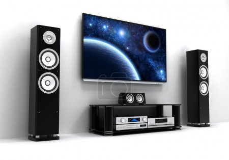 Photo for Home-cinema modern (done in 3d) - Royalty Free Image