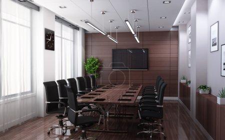 Photo pour Salle de conférence moderne (fait en 3d ) - image libre de droit