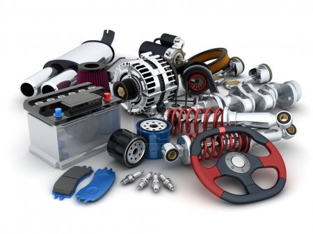 Many auto parts (done in 3d)...