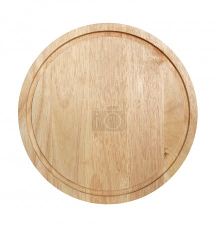 Photo for Round chopping board isolated on a white background. - Royalty Free Image