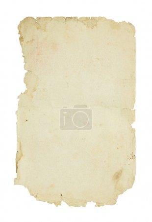 Photo pour Vieux papier isolé sur fond blanc. - image libre de droit
