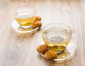 Dva šálky zeleného čaje