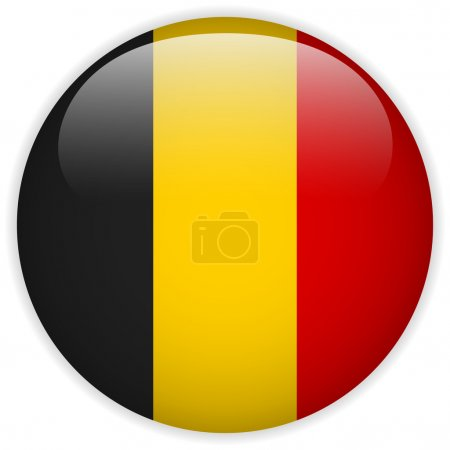 Belgium Flag Glossy Button