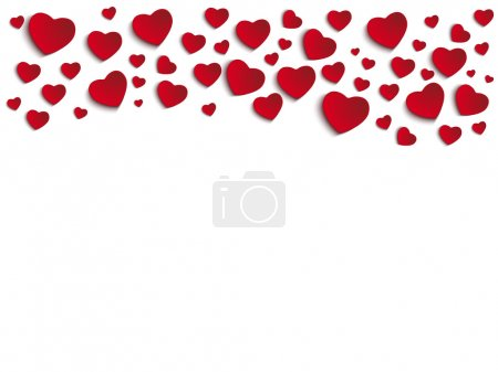 Illustration for Valentine Day Heart on White Background - Royalty Free Image
