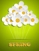 """Постер, картина, фотообои """"Красивый весенний белые цветы фон"""""""