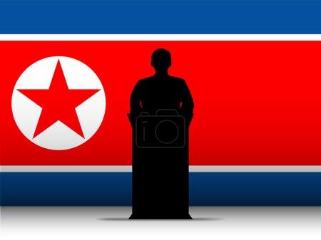 Vector - North Korea War Speech Tribune Silhouette...