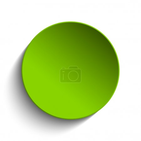 Vector - Green Circle Button on White Background...