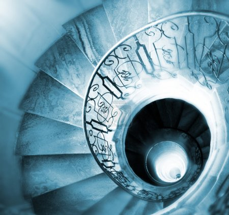 Photo for Very old spiral stairway case - Royalty Free Image