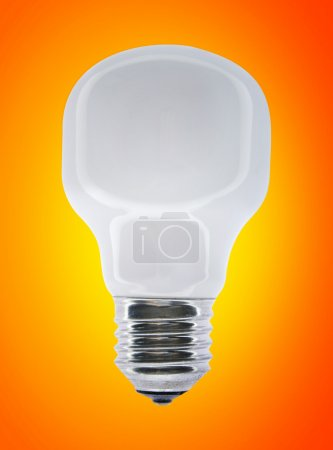 Wite bulb isolated on orange....