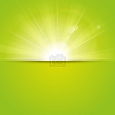 Illustration for Green sunny background with place for text - Royalty Free Image